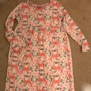 Hanna Andersson Holiday Poly Nightgown Size 140